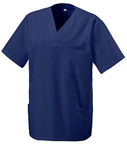 Schlupfkasack Kasack Schlupfjacke Schlupfhemd für Medizin und Pflege OP-Kleidung Marine Navyblau Gr. 4XL