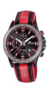 Reloj Lotus Hombre 18592/3 Chrono Piel Rojo