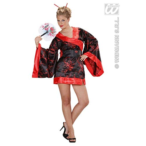 widmann-wdm76823disfraz Adulto mujer, Rojo Negro, wdm76823