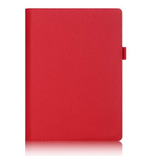ISIN Tablet Fall Serie Premium PU-Leder Schutzhülle für Lenovo Yoga Tab 3 Plus und Lenovo Yoga Tab 3 Pro 10.1 Zoll Tablet Projektor mit Handschlaufe und Kartenschlitz (Rot)