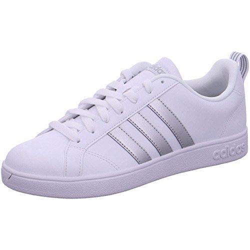 Adidas vs advantage, scarpe da fitness donna, bianco (ftwbla/plamet/ftwbla 000), 39 1/3 eu