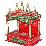 MVEE Wooden Home Temples/Pooja Mandir/Mandapam/Temple for Home (46 L x 30 D x 61 H cm)