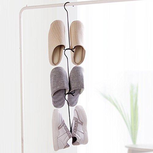 Guangmu Gancho Percha de Zapatos calcetines Sombreros 3 pcs (Black)