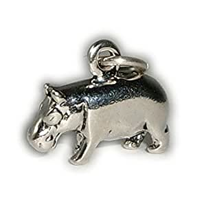 Charm Pendentif Hippopotame Argent sterling 925/1000