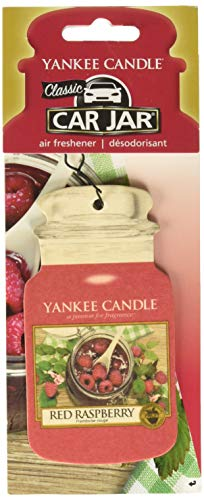 YANKEE CANDLE Red Raspberry Classic Car Jar, Cartone, Rosso, M,