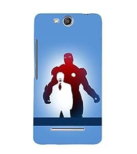 printtech Superhero Avengers Back Case Cover for Micromax Bolt Q338