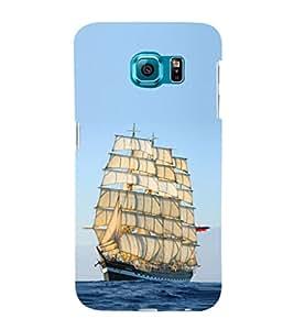 ifasho Designer Phone Back Case Cover Samsung Galaxy S6 G920I :: Samsung Galaxy S6 G9200 G9208 G9208/Ss G9209 G920A G920F G920Fd G920S G920T ( I Love Kolkata Blue Wood Look )
