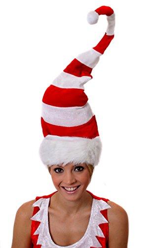 Ilovefancydress - accessori e cappelli divertenti natalizi: cappelli di babbo natale, elfo, tacchino, per uomo e donna tall striped hat