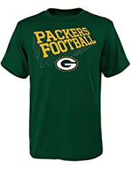 """Green Bay Packers Youth Jeunes NFL """"Dimensional"""" Short Sleeve T-Shirt Chemise"""