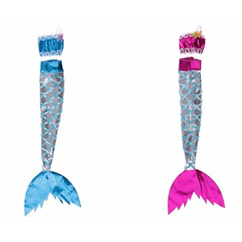 Homyl 2 Sets Puppen Meerjungfrau Bekleidung Für Barbie Puppen Dress Up Zubehör