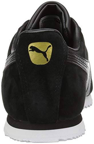 PUMA Baby Roma Gents Nubuck Kids Sneaker  Black Black  4 M US Toddler