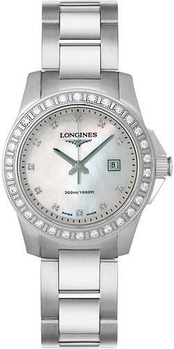 Longines Conquest / orologio donna / quadrante madreperla bianca / cassa e bracciale acciaio