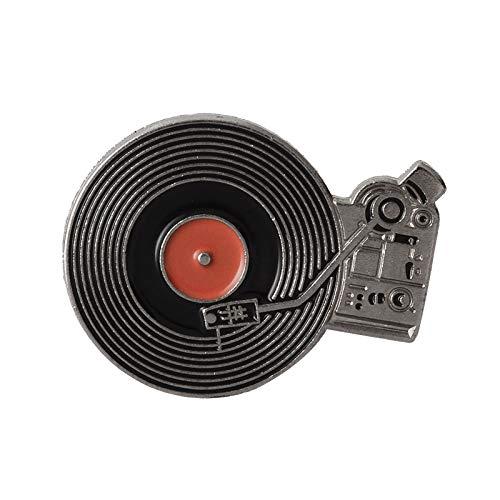 HFKDJ Brosche Musik-Player-Pins Sammlung Vinyl-Plattenspieler, Band, Plattenspieler Rekord Broschen Abzeichen Geschenk Für Musikliebhaber, Style2 -