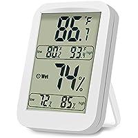Termometro Igrometro Backture Termometro Digitale LCD per Interno/Esterno Igrometro Digitale, Misura Umidità e Temperatura, Memoria di Max/Mini, Bianco …