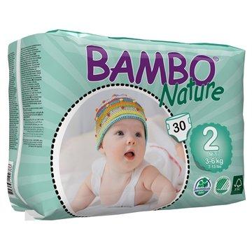 Bambo Nature Mini (3-6 kg) 3 x piezas 30, funda de almohada de pañales