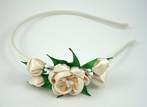 Diadema para comunión, boda, fiesta, sesión de fotos, niña, regalo, complementos,corona de flor