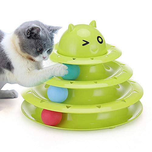 Aolvo Purrfect Katzenspielzeug, Titan-Turm, DREI Hebel, interaktives Spielzeug für Katzen