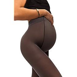 sofsy Medias Opacas de Maternidad – Ajuste súper cómodo para todas las etapas del embarazo 50 den [Hecho en Italia] Grey 4 - Large