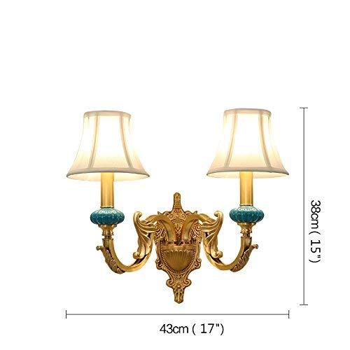 Light-XGM Tiffany Style Einfache Wandleuchten im Landhausstil (traditionell/klassisch) 2 leichte Wandleuchten Messing-Wandleuchten - Messing-tiffany-wandleuchte