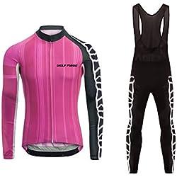 18d62cb889937 Uglyfrog 2018 Nuevo Maillot ciclismo Ropa Invierno Mujer Mangas Largas  Térmico Camiseta de ciclistas + Bib