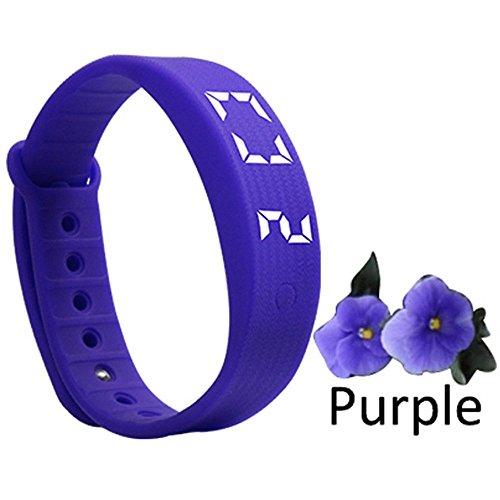 Fitbit-Armbanduhr, Aktivitätsmesser, Smart Watch, Schrittzähler, für Kinder und Erwachsene, violett