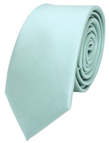 TigerTie stretta raso cravatta - menta blassmenta verde uni monocromatico