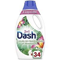 Dash 2en1 Dash2en1 Lessive Liquide Fleurs de Frangipanier/Mandarinier 1,87L 34 Lavages -