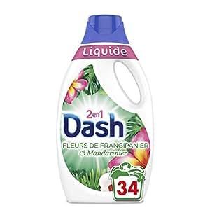 Dash 2in1Dash 2in1Flüssigwaschmittel Blumen-Frangipani/Mandarinenduft 1,87l 34Waschgänge, 2Stück