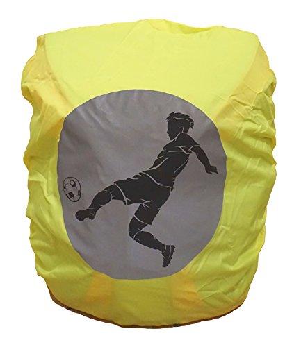 EANAGO Wasserdichter Schulranzen/Rucksack Regenschutz/Regenüberzug mit Reflektionsbild Fußball
