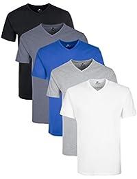 Lower East T-Shirt en V Homme, Lot DE 5