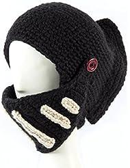Xcellent Global Chapeau de Calotte Casque de chevalier Masque du vent en plein air Cadeau de Noël Noir SP029B