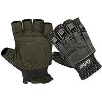 KYB Paintball guantes Airsoft SWAT de motocross ciclismo armadura dedo medio guantes de menos, negro