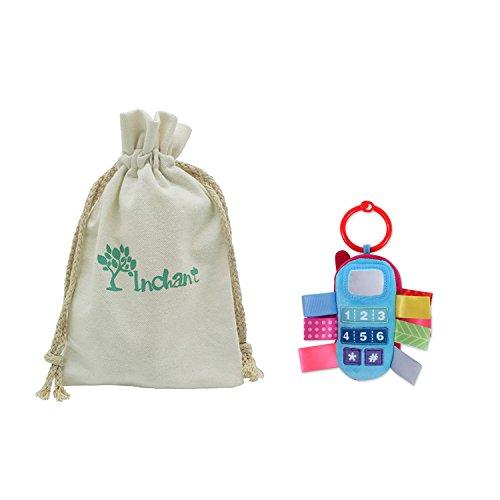 Inchant bébé Hochet enfants poussette Hanging de Bell jouets pour bébé Handbell voiture Berceau Jouets avec des rubans colorés/Tags avec cadeau Sac en coton