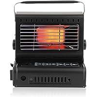 Estufa camping gas Gas Calentador compacto de 1,3kW Mini portátil Portable para viajes camping exterior Radiador de calefacción para calefacción