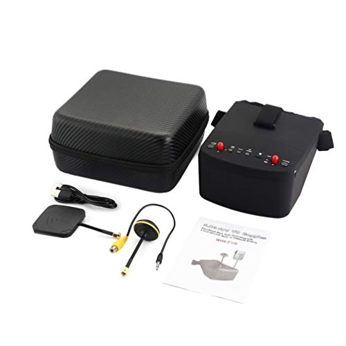 Wenwenzui LS-800D 5.8G 5in 40CH DVR FPV Goggles Headset Receiver for RC Racing Drone Black