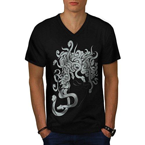 nst Fantasie Angst Faktor Herren S V-Ausschnitt T-shirt | Wellcoda (Faktor Angst-spiele Für Halloween)