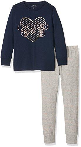 NAME IT Mädchen Zweiteiliger Schlafanzug Nitminnie Leah Nightwear Nmt Wdi, Mehrfarbig (Dress Blues), 122