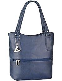 Fostelo Women's Sarah Shoulder Bag (Blue) (FSB-874)