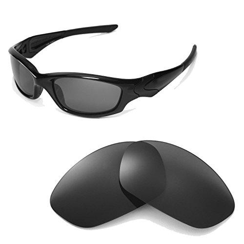 Walleva Ersatzgläser für Oakley Straight Jacket Sonnenbrille - Mehrfache Optionen (Schwarz)