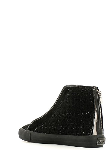 Guess Sneaker Donna Bottes Shelly Active Lady Metallic Fabric chaîne Black