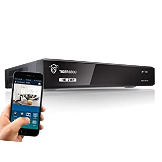 TIGERSECU Super HD 1080P 8-Channel Hybrid 5-in-1 DVR NVR Security Video Recorder, Supports Analog and IP Cameras (Cameras and Hard Drive Not Included)
