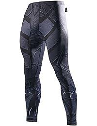 Fringoo® da uomo a compressione Superhero collant leggings lunghi da corsa  palestra termica da allenamento 481dcfd0b7c