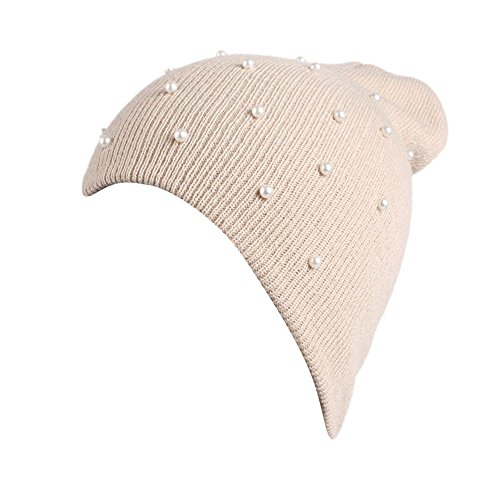 Damen Knit Strickmütze Frauen Skifahren Gehäkelte Mütze Strickmütze warme Mütze Slouchy Wollmütze Slouchy Ski Caps Hut Knit Kappen 41T N6A1 lL