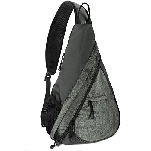 Unigear Sling-Rucksack Sling Bag Schulterrucksack Umhängetasche Daypack Crossbag Kamerarucksack mit Verstellbarem Schultergurt Geeignet für Outdoorsport, Wandern, Radfahren, Bergsteigen, Reisen,Schule (Grau) (Bag Handtasche Body)