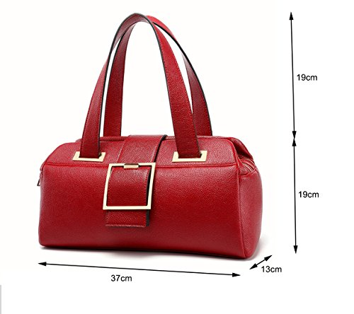 VANCOO Schulter Handtaschen für Frauen Damen große Tote Tasche PU Leder 6021 black Schwarz