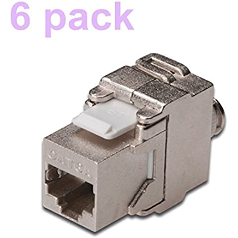 Dshot® (6 Pack) RJ45 Cat6A Shielded Metal patch panel Keystone Jacks, [Importado de UK]