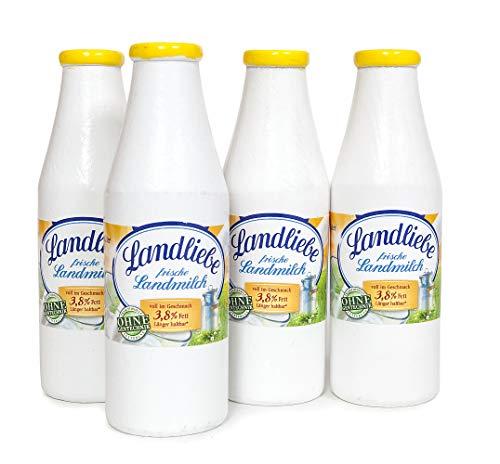 Polly Shopper 4 Milchflaschen Kaufladen Zubehör Holz