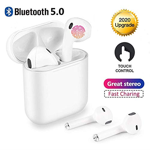 Cuffie Bluetooth,Wireless 5.0 Auricolari Bluetooth IPX7 impermeabili Cuffie audio 3D Surround Cuffie sportive Microfono incorporato,per Apple Airpods iphone Android