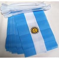 GUIRNALDA 4 metros 20 BANDERAS de ARGENTINA 15x10cm - BANDERA ARGENTINA 10 x 15 cm - BANDERINES - AZ FLAG