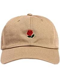 Loveso Hat Unisex Damen Herren Kappen Adult Fashion Rose Stickerei Cotton Baseball Mütze Sun Casp